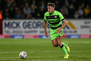 Forest Green Rovers Paul Digby(20) on the ball during the EFL Sky Bet League 2 match between Cambridge United and Forest Green Rovers at the Cambs Glass Stadium, Cambridge, England on 2 October 2018.