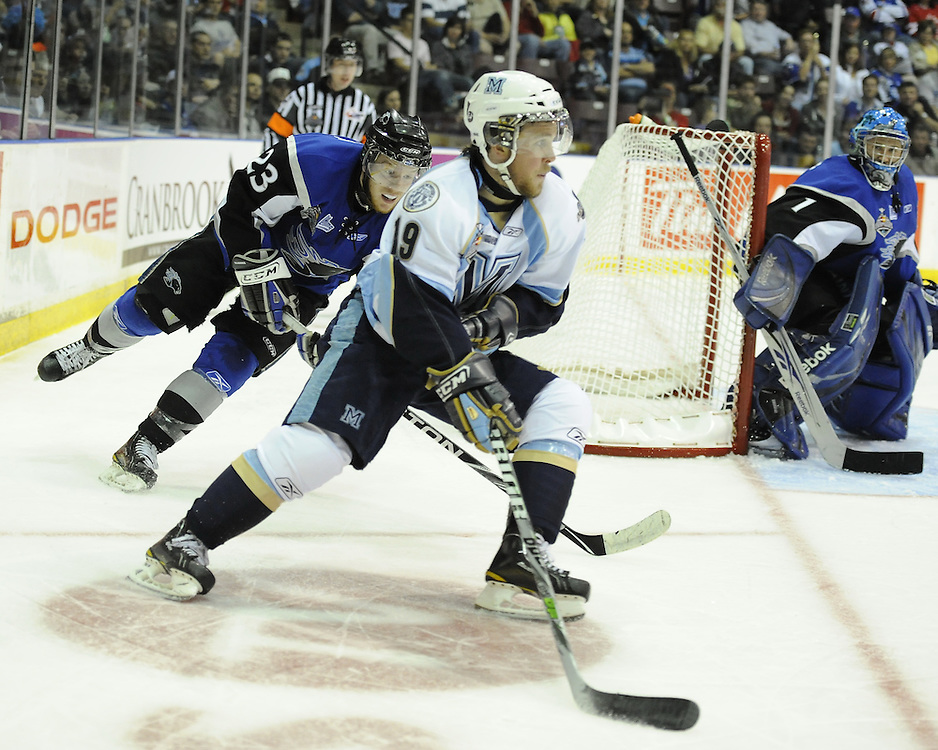 Game action from Sunday's Championship game between the Mississauga St. Michael's Majors and Saint John Sea Dogs at the 2011 MasterCard Memorial Cup in Mississauga, ON. Photo by Aaron Bell/CHL Images