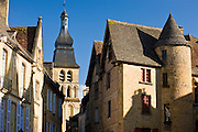 Typical French architecture in popular picturesque tourist destination of Sarlat in Dordogne, France