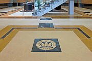 Commercial Interior Lobby Floor with Leed Gold Plaque. 6518 Meadowridge Rd.