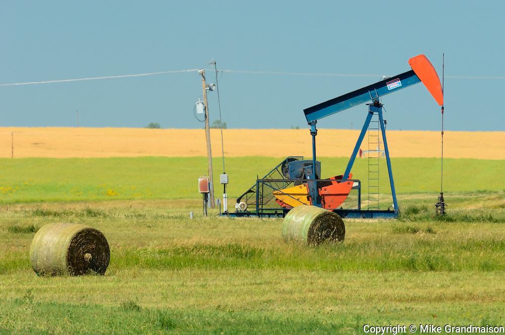 Oil pump jack<br /> Carlyle<br /> Saskatchewan<br /> Canada