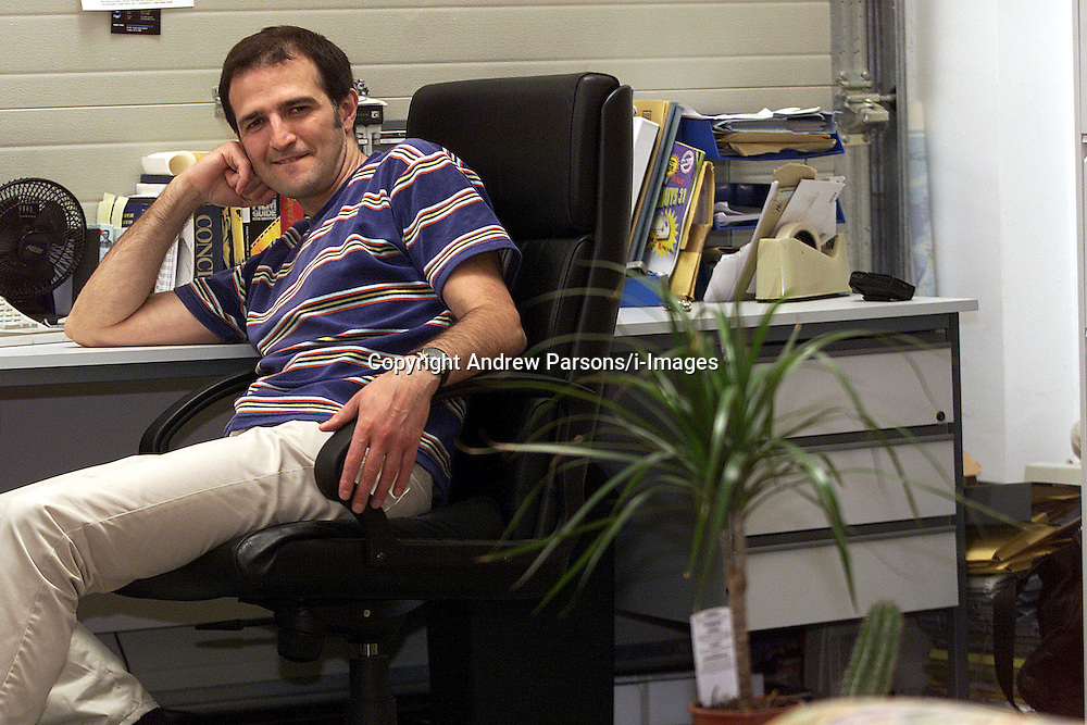 Charles Kasabi, publisher at Roma Publishing Ltd in his office in London Lane, E8, United Kingdom, July 31, 2000..Photo by Andrew Parsons/i-Images..