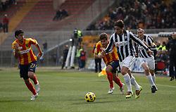 ITALY, Lecce : Matri J Donati L Grossmuller L.during the Serie A match between Lecce and Juventus at Stadio Via del Mare in Lecce on February 20, 2011. .AFP PHOTO / GIOVANNI MARINO