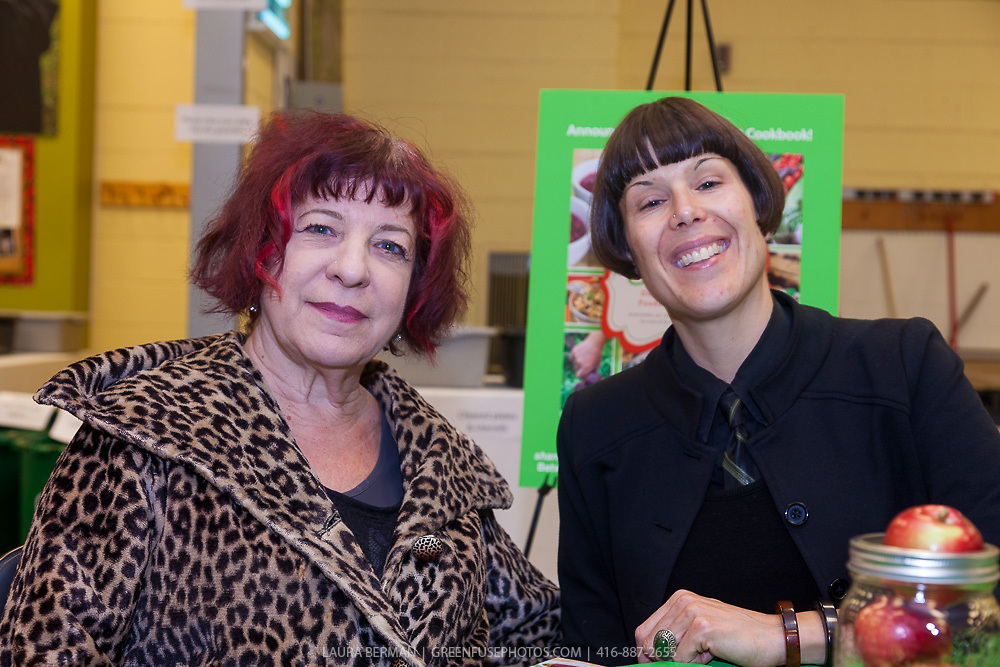 "Authors Adrienne DeFrancesco and Marion Kane at the launch party of ""share"", FoodShare's 1st cookbook. Nov. 14, 2012"