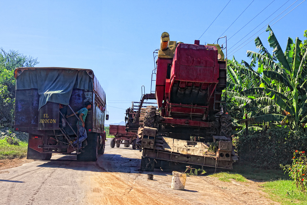 Trucks in Bayamo, Granma Province, Cuba.