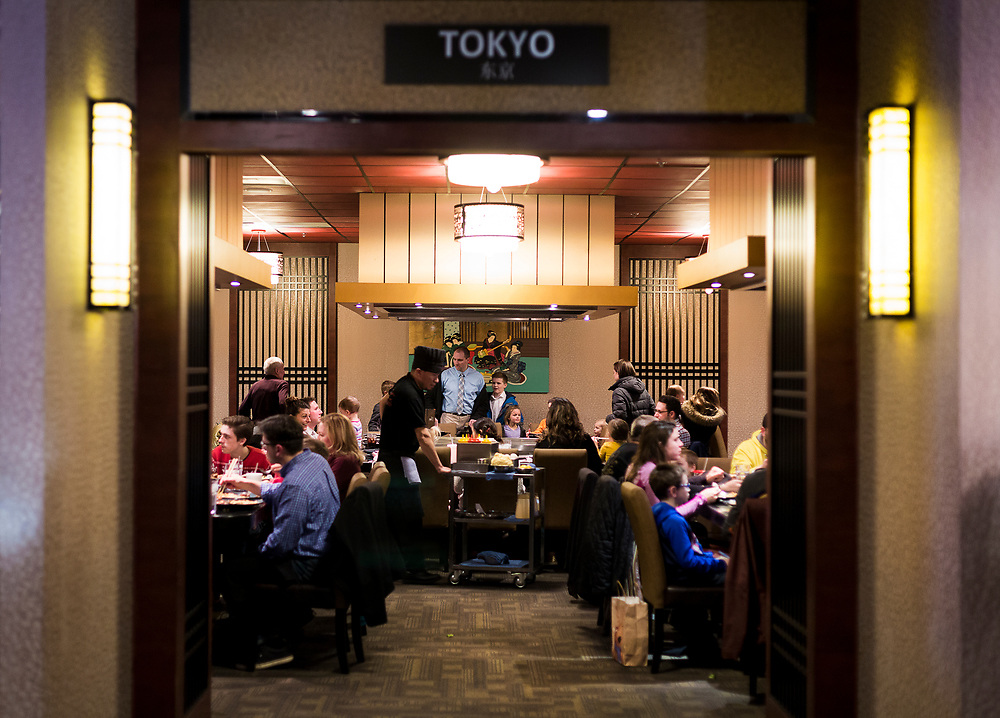 Dinner is served at Sumo Japanese Steakhouse & Sushi Bar in Madison, Wisconsin, Wednesday, March 21, 2018.