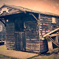 Fisherman's shed named Judy at Walberswick in Suffolk England