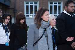 ©  London News Pictures.  20/12/2013. London, UK. Italian Sisters Elisabetta (right in grey jacket) and Francesca (left in black) Grillo, leaving Isleworth Crown Court in London after being found not guilty of misappropriating funds while working as personal assistants for Charles Saatchi and Nigella Lawson. Photo credit : Ben Cawthra/LNP