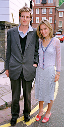 MR & MRS ZAC GOLDSMITH son of the late Sir James Goldsmith, at a party in London on 30th June 1999.MTY 112