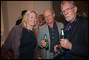 LADY GEORGANNE UXBRIDGE; RICHARD ADAMS; JIM ANDERSON, John Dunbar Private View, England and Co. 90-92 Great Portland Street, London 7 October 2014