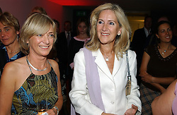 Writer ROS COWARD and SUSIE KASSEM a friend of the late Diana, princess of Wales at a party to celebrate the UK launch of Diana:The Portrait, the authorised book about the late Princess Of Wales's life and work, held at the National Portrait Gallery, London on 1st September 2004.  The book was commissioned by The Diana, Princess of Wales Memorial Fund and writen by Ros Coward.