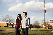 STARKVILLE, MS – FEBRUARY 1, 2017: Amir Rezazedah and his wife Telmah stand on the Mississippi State University campus. Amir Rezazedah is a research assistant PhD, and his wife is currently a PhD candidate. Amir's visa is set to expire, and under the executive order he fears it might not be renewed, forcing him to return to Iran without his wife. CREDIT: Bob Miller for The New York Times