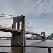 Brooklyn Bridge as seen from FDR highway.