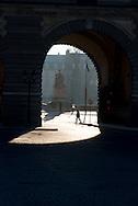 France. Paris. 1st district. . Louvre museum. Lion Gate . Architecte, PEY. to use the picture you have to contact the EPGL etablissement public du grand Louvre./ la porte du lion