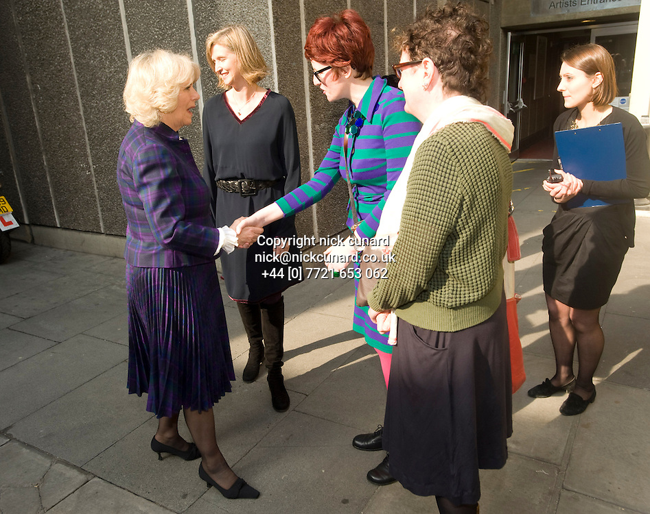 director Kirsten Grant and HRH Duchess of Cornwall pays a visit to World Book Day event , London Southbank Centre where a series of renowned children's authors read extracts from their books as part of the day's worldwide efforts to celebrate and encourage reading.