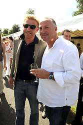 Left to right, BORIS BECKER and SIR IAN BOTHAM at the IWC Laureus Polo Cup Day 2008 held at Ham Polo Club, Surrey on 22nd June 2008.<br /><br />NON EXCLUSIVE - WORLD RIGHTS