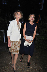 Left to right, LINDY, MARCHIONESS OF DUFFERIN & AVA and MELISSA WYNDHAM at a Summer party hosted by Lady Annabel Goldsmith at her home Ormeley Lodge, Ham, Surrey on 14th July 2009.