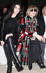 Kendall Kardashian and Anna Wintour  at the Topshop Unique show at London Fashion Week A/W 14,  Sunday, 16th February 2014. Picture by Stephen Lock / i-Images