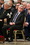 Vatican City apr 12th 2015, mass in memory of the armenian genocide. In the picture the president of the Republic of Armenia, Mr Serzh Sargsyan - © PIERPAOLO SCAVUZZO