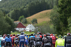 August 11, 2016 - Rognan, Norway - Peloton of riders during the opening stage of the Arctic Race of Norway from Bodo to Rognan..On Thursday, 11 August 2016, in Rognan, Norway. (Credit Image: © Artur Widak/NurPhoto via ZUMA Press)