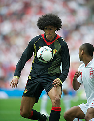 LONDON, ENGLAND - Saturday, June 2, 2012: Belgium's Marouane Fellaini in action against England during the International Friendly match at Wembley. (Pic by David Rawcliffe/Propaganda)