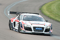 #23 Mark Patterson/Matt Bell - United Autosports, Audi R8 LMS ultra during British GT Championship race at Rockingham, Corby, Northamptonshire, United Kingdom. May 05 2014. World Copyright Peter Taylor/PSP. Copy of publication required for printed pictures.  Every used picture is fee-liable. http://archive.petertaylor-photographic.co.uk