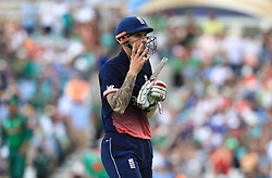 England's Alex Hales leaves the field after being caught out during the ICC Champions Trophy, Group A match at The Oval, London.