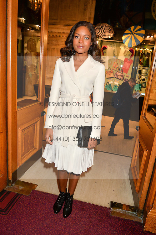 NAOMIE HARRIS at the opening night of Amaluna by Cirque Du Soleil at The Royal Albert Hall, London on 19th January 2016.