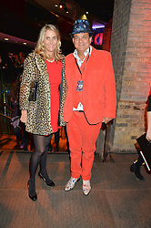 GERRY & JOSIE FOX at a Night of Disco in aid of Save The Children held at The Roundhouse, Chalk Farm Road, London on 5th March 2015.