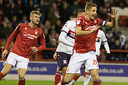 Michael Dawson clears during the EFL Sky Bet Championship match between Nottingham Forest and Middlesbrough at the City Ground, Nottingham, England on 10 December 2019.