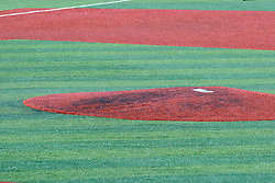 11 July 2012:  Pitchers mound during the Frontier League All Star Baseball game at Corn Crib Stadium on the campus of Heartland Community College in Normal Illinois