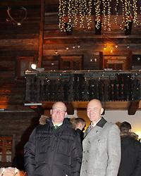 08.02.2013, Landalm, Rohrmoos-Untertal, AUT, FIS Weltmeisterschaften Ski Alpin, Empfang durch Landeshauptmann Franz Voves, Steiermark, im Bild Hermann Trinker, Buergermeister von Rohrmoos-Untertal, Juergen Winter, Buergermeister von Schladming // Hermann Trinker, mayor of Rohrmoos-Untertal, and Juergen Winter, mayor of Schladming, at a receiving from governor Franz Voves, Styria, during FIS Ski World Championships 2013 at the Landalm, Rohrmoos-Untertal, Austria on 2013/02/08. EXPA Pictures © 2013, PhotoCredit: EXPA/ Martin Huber