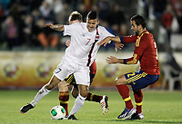 Spain's Montoya (r) and Norway's Singh during international sub21 match.March 21,2013. (ALTERPHOTOS/Acero)