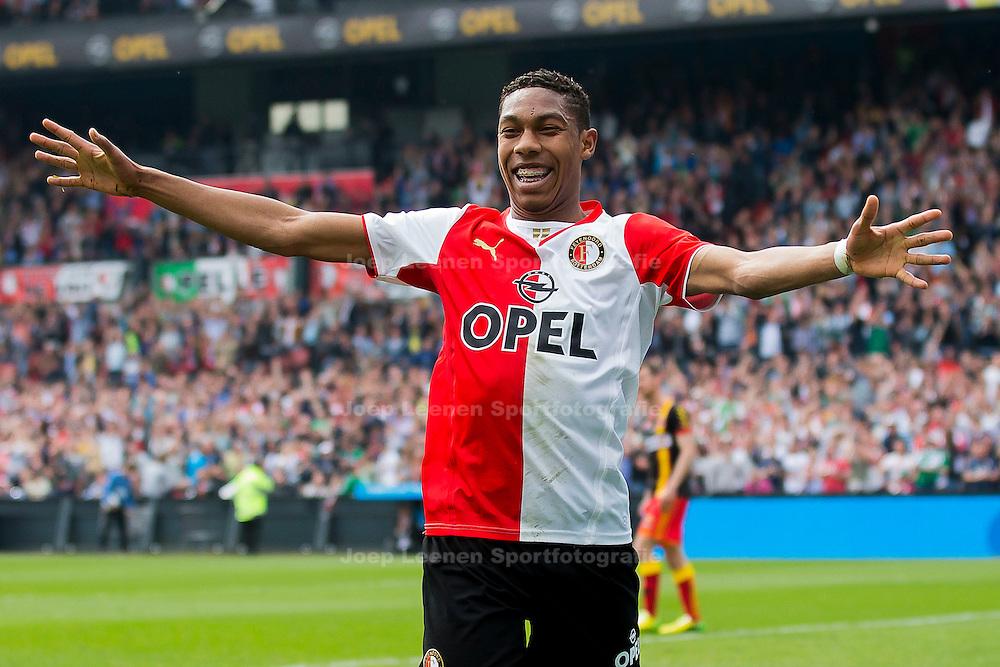 ROTTERDAM, Feyenoord - Go Ahead Eagles, voetbal Eredivisie, seizoen 2013-2014, 30-03-2014, Stadion de Kuip, Feyenoord speler Jean-Paul Boetius heeft de 3-0 gescoord.