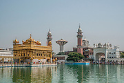 Golden temple in Amritsar, Punjab province, India. This temple is the holiest place of Sikhism
