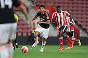 Manchester United U21 Devonte Redmond during the Barclays U21 Premier League match between U21 Southampton and U21 Manchester United at the St Mary's Stadium, Southampton, England on 25 April 2016. Photo by Phil Duncan.