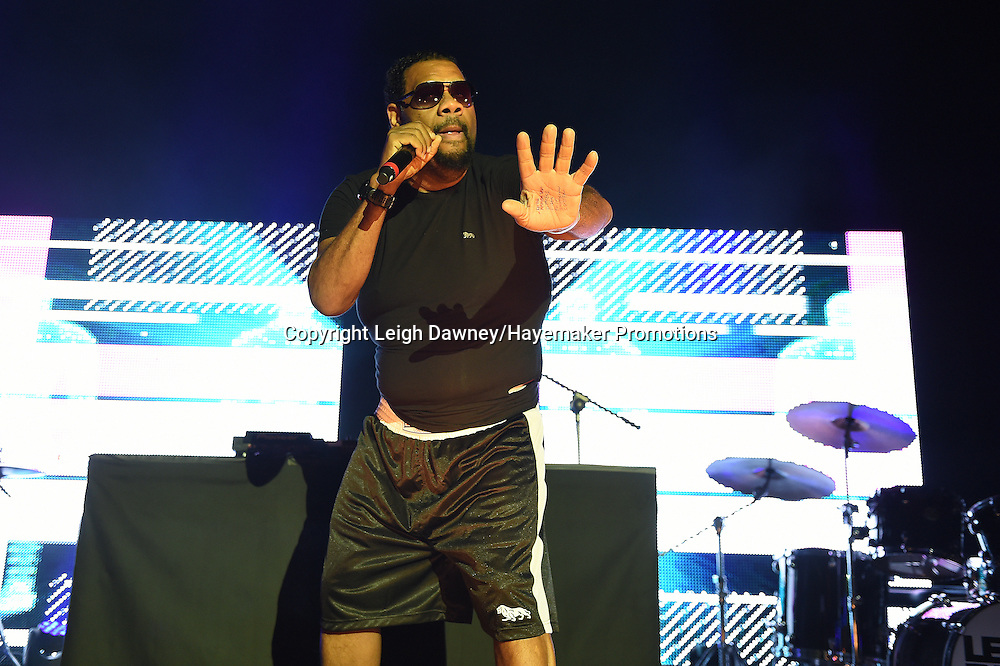 Fatman Scoop performs on stage ahead of the David Haye v Arnold Gjergjaj heavyweight contest at the 02 Arena, London on the 21st May 2016. Photo credit: Leigh Dawney/Hayemaker Promotions