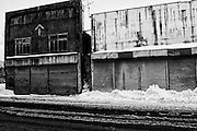 Photo shows shuttered up stores in Yubari City, on the northernmost island of Hokkaido in Japan. The Yubari municipality is officially bankrupt, and boarded up stores and other businesses are a common sight. .