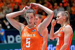 11–01-2020 NED: Semi Final Olympic qualification tournament women Germany - Netherlands, Apeldoorn<br /> First semi final match Germany - Netherlands 3-0 / Robin de Kruijf #5 of Netherlands