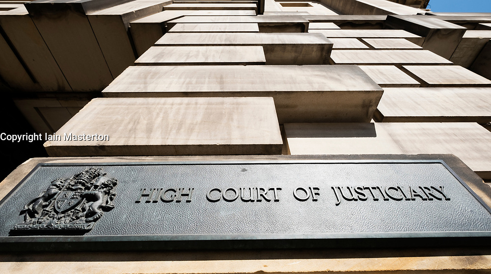 The  High Court of Justiciary on The Royal Mile in Edinburgh, Scotland UK