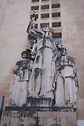 Statue figures outside the Faculty of Medecine, Praca da Porta Ferrea, Coimbra University, Portugal.
