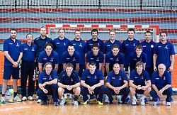 Group photo at practice of Slovenian Handball Men National Team, on June 4, 2009, in Arena Kodeljevo, Ljubljana, Slovenia. (Photo by Vid Ponikvar / Sportida)