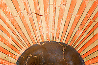 Original Munras Mural Inside Chapel at Mission San Miguel Arcangel, San Miguel, California