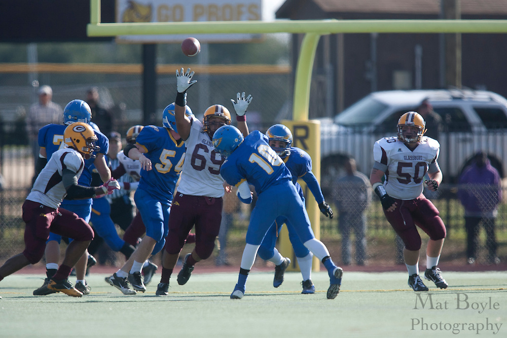 Pennsville Memorial High School's Dylan Cummings (10)..NJSIAA South Jersey Group 1 Title match between Pennsville High School and Glassboro High School held at Coach Richard Wacker Stadium on the campus of Rowan University in Glassboro, NJ on Saturday, December 3, 2011. (photo: Mat Boyle)