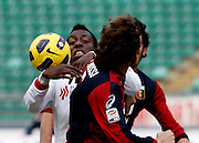 Bari (BA), 13-02-2011 ITALY - Italian Soccer Championship Day 25 - Bari VS Genoa..Pictured: Okaka (BA) Rossi (GE).Photo by Giovanni Marino/OTNPhotos . Obligatory Credit