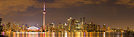 60912-00319 Toronto skyline at night from Toronto Island Park Toronto, Ontario Canada