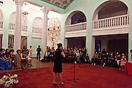 Mongolia. Ulaanbaatar. french poetry competition  in the opera of Ulaanbaatar. Mongolia