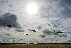 May 4, 2017 - Moscow, Russia - May 4, 2017. - Russia, Moscow. - Rehearsal of the air part of the Victory Day parade at the Kubinka Air Base. Photo from twitter.com/mod_russia (Credit Image: © Russian Look via ZUMA Wire)