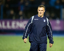 Jarrod Evans of Cardiff Blues during the pre match warm up<br /> <br /> Photographer Simon King/Replay Images<br /> <br /> European Rugby Challenge Cup Round 2 - Cardiff Blues v Leicester Tigers - Saturday 23rd November 2019 - Cardiff Arms Park - Cardiff<br /> <br /> World Copyright © Replay Images . All rights reserved. info@replayimages.co.uk - http://replayimages.co.uk