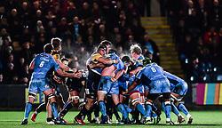 Players compete in a maul - Mandatory by-line: Alex Davidson/JMP - 22/12/2017 - RUGBY - Sixways Stadium - Worcester, England - Worcester Warriors v London Irish - Aviva Premiership